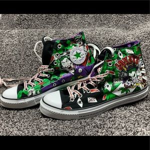 💜❤️🖤 Joker and Harley Quinn Converse High Tops